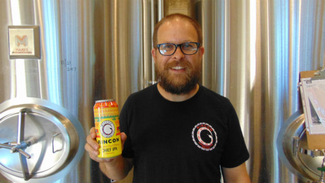 "Shawn Steele with ""The Chief"" IPA"