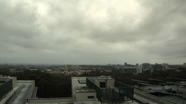 Cloudy skies over UC San Diego campus