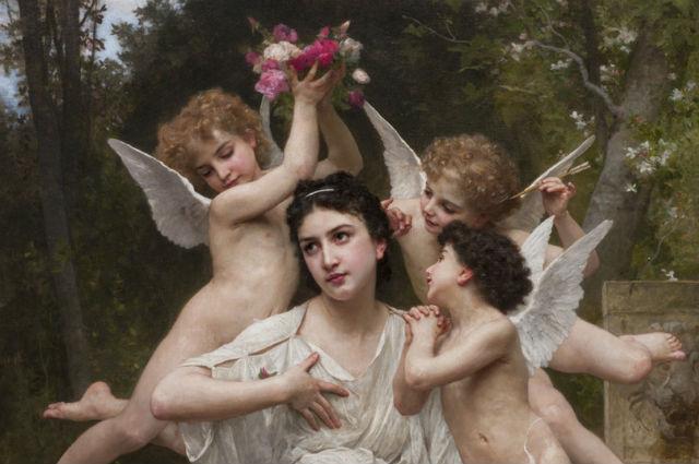 "William-Adolphe Bouguereau's ""Dream of Spring"""