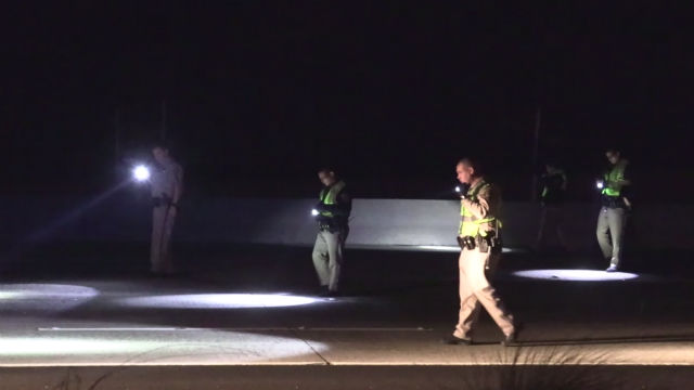 CHP officers search for evidence