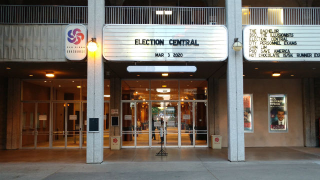 Election Central before polls closed
