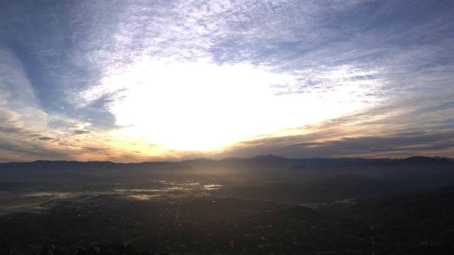 Sunrise on Sunday from Mt. Woodson