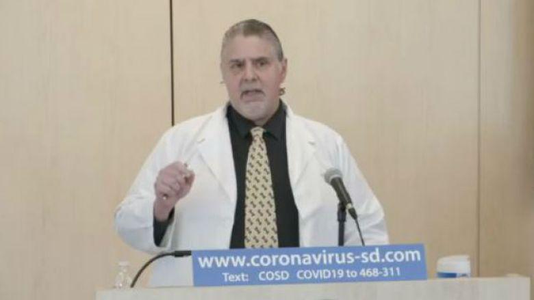 Dr. Nick Yphantides speaks at press conference