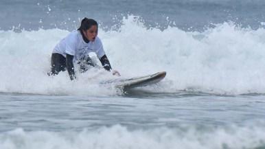 Noemi Alvarez of Chili competes in the kneel divisio