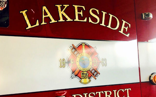 A Lakeside Fire Protection District truck