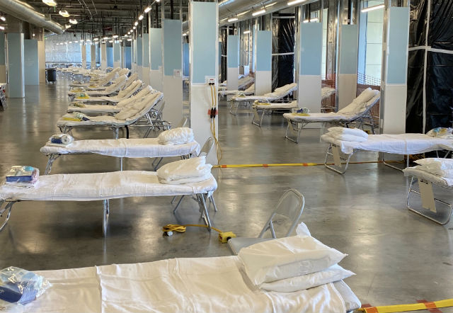 Hospital beds for COVID-19 patients