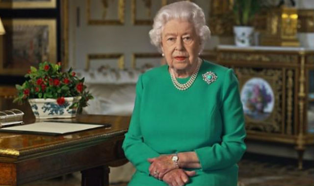 Queen Elizabeth speaks to the United Kingdon