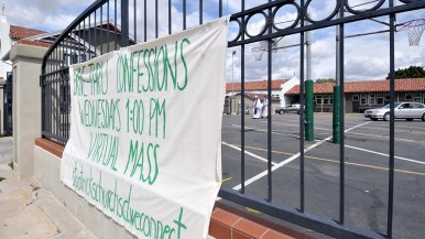 St. Patrick's Catholic Church in North Park offered drive-thru confessions for three weeks during Lent.