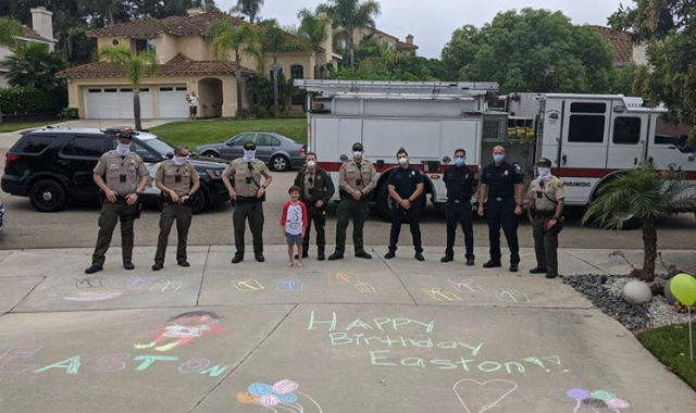 Deputies wish happy birthday to a San Marcos boy