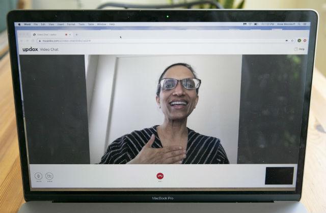 Dr. Sumana Reddy demonstrates a Telehealth exam