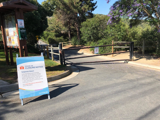 A park in San Marcos remains closed during the pandemic.