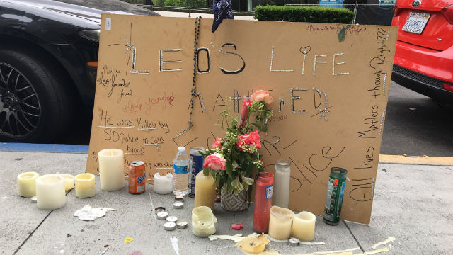 """Justice for Leo"" memorial"