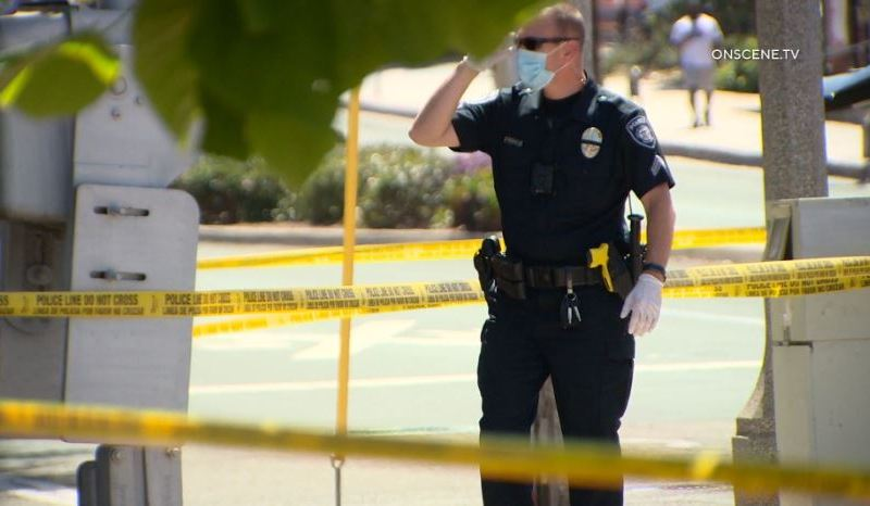 Carlsbad Police officer at the scene of the fatal rail accidnet