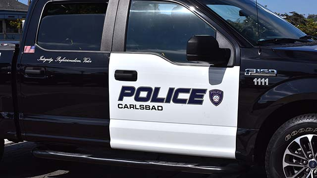 A Carlsbad Police vehicle