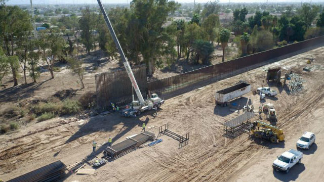 Border wall construction near Calexico