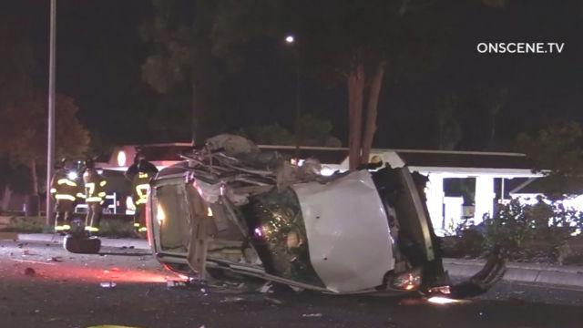 Cadillac SUV wreckage