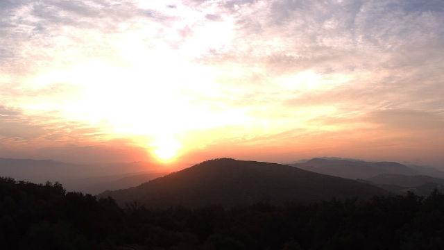 Sunrise from Mesa Grande