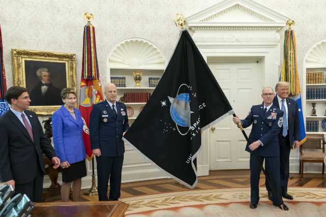 Space Command flag unveiled at White House