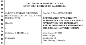 Department of Justice response to TRO motion. (PDF)
