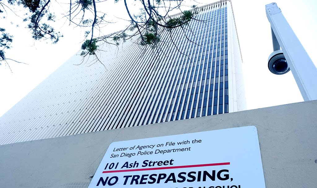 101 Ash St. in downtown San Diego has been a source of controversy for San Diego city leaders and candidates.