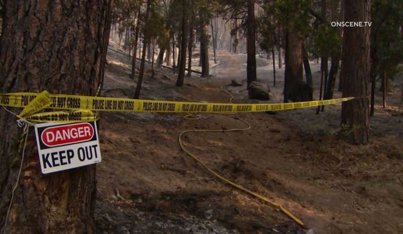 Trailhead where firefighter died