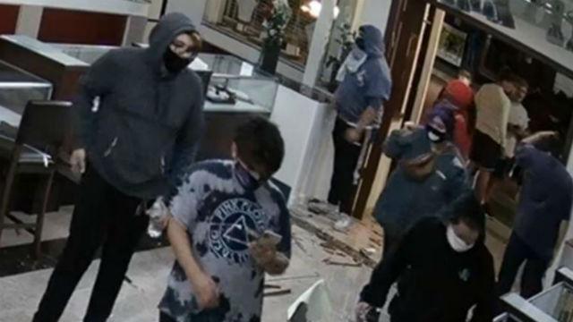 Surveillance photo of looting