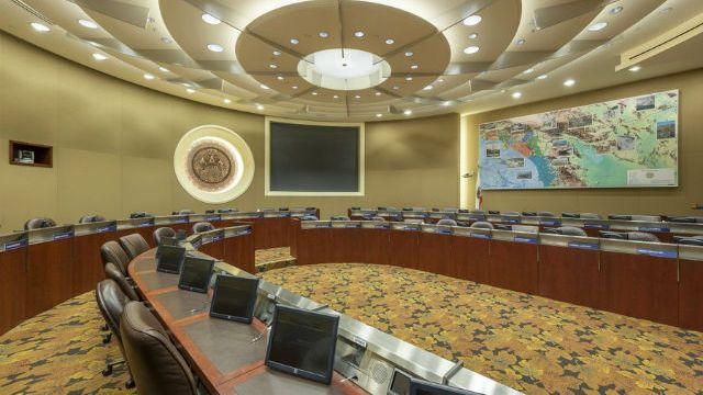 Board room of Metropolitan Water District