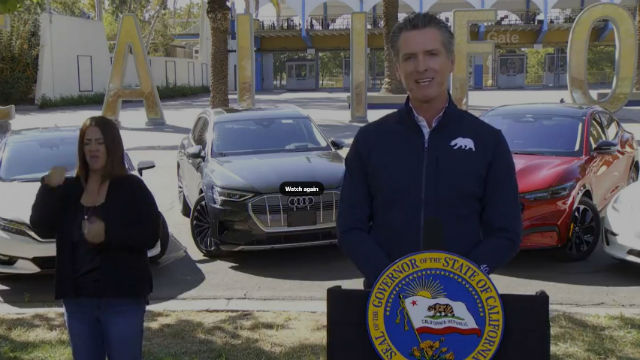 Gov. Newsom announces ban on sales of gas-powered cars