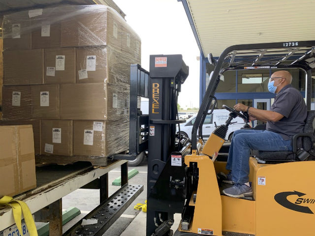 Face mask delivery for Kern County schools