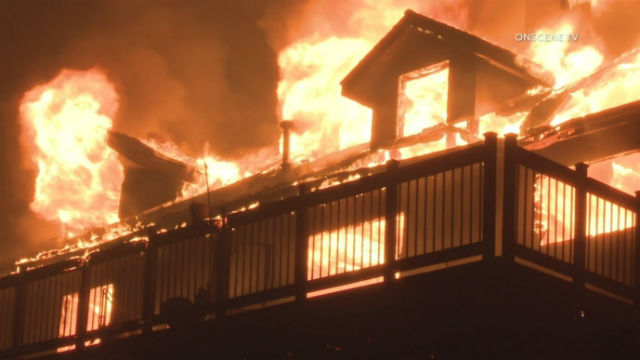 A house burns overnight on Montiel Truck Trail