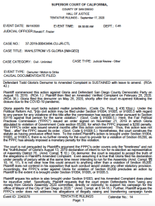 Judge Ronald Frazier's tentative ruling on a Todd Gloria motion was later made final. (PDF)