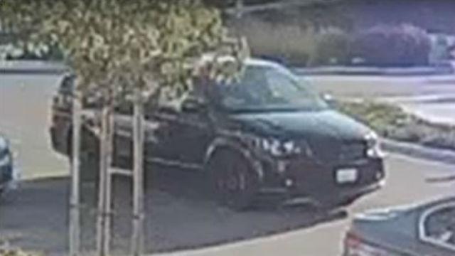 Surveillance photo of minivan