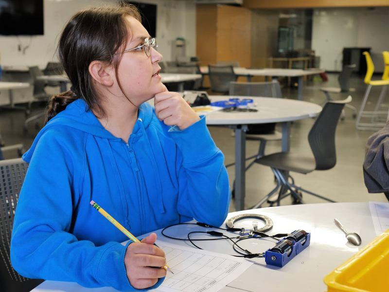 Student attends Monarch School.