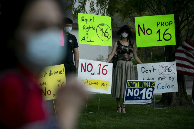 Protest against Proposition 16