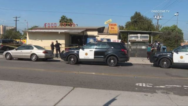 Market where robbery suspect was shot
