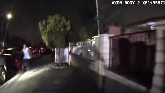 Image from police bodycam video shows Jose Alfredo Castro-Gutierrez screaming.