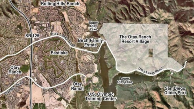 Otay Ranch Resort Village takes up east of Chula Vista.