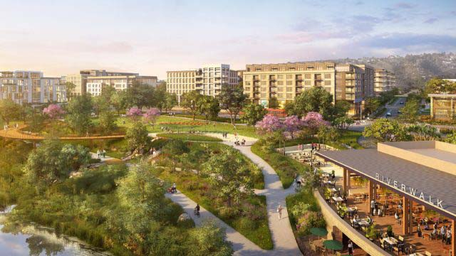 Riverwalk San Diego project rendering. Courtesy Hines