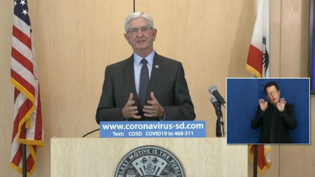 Sheriff Bill Gore briefs the media