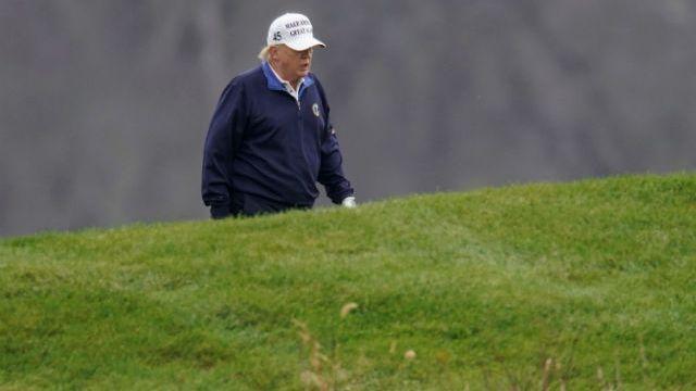 President Trump plays golf