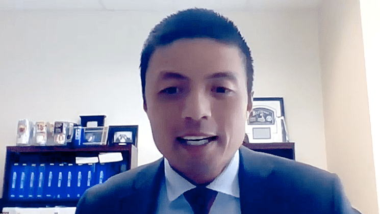 Deputy District Attorney Leonard Trinh as seen in recent webinar on hate crimes.
