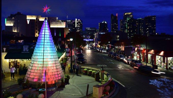 Holiday season Christmas Tree lighting