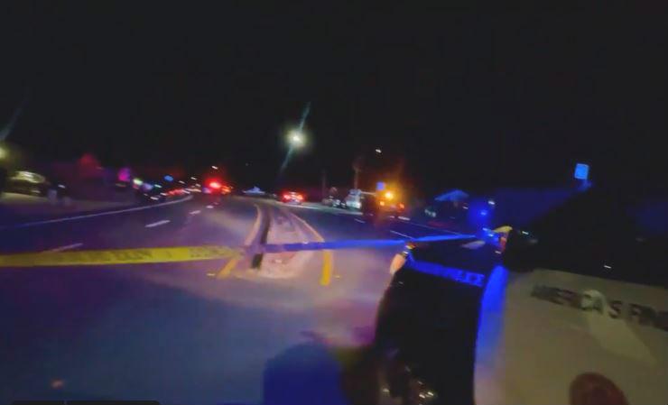 Road where pedestrian was struck