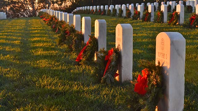 Wreaths were placed at Fort Rosecrans and Miramar National Cemeteries, Greenwood Memorial Park, Valley Center Cemetery and Oak Hill Cemetery in the country.