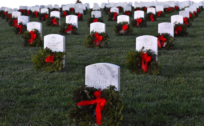 Wreaths Across America coordinates wreath-laying ceremonies at more than 2,100 locations across the United States, at sea and abroad.