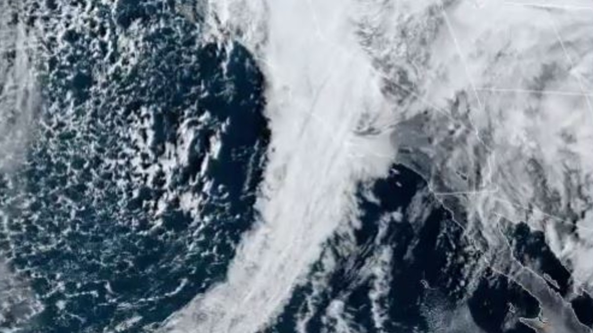 Satellite photo of atmospheric river