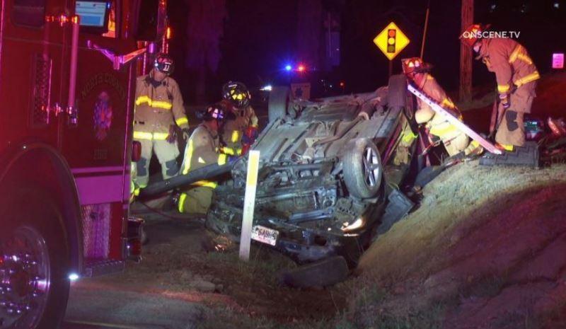 Bonsall crash wreckage