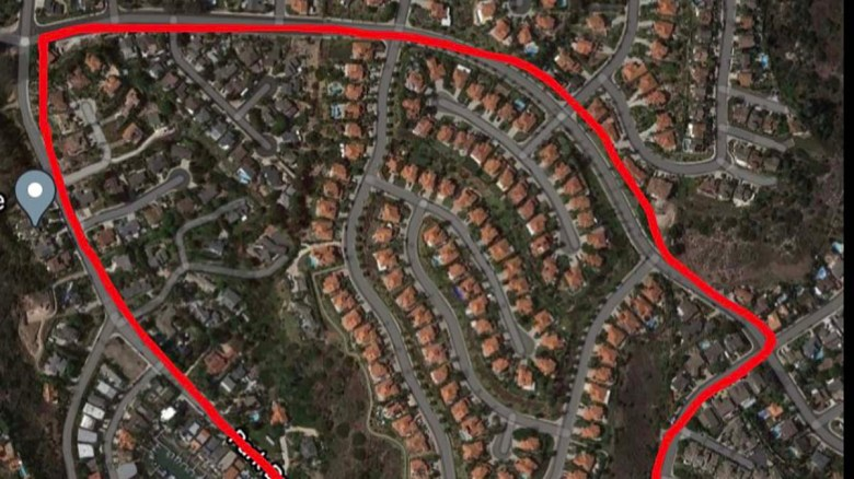 Cal Fire posted map showing Rancho San Diego evacuation zone.