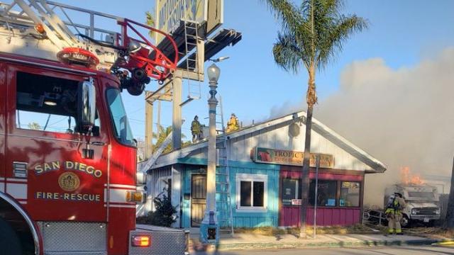 OB Motor Home Fire
