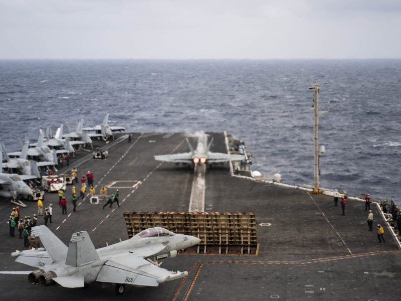 F/A-18F launches from the USS Rossevelt